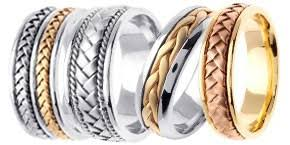 braided wedding band gold wedding bands designer white yellow two tone tri color
