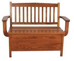 Storage Bench Chair Low Back Mission Storage Bench From Dutchcrafters Amish Furniture