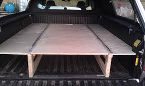 truck buildphase sleeping and storage also bed platform
