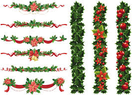 christmas garland vector free vector graphic resources