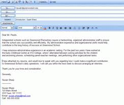 cover letter email format template design