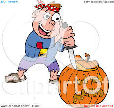 happy halloween pumpkin clipart clipart of a cartoon happy white boy in a pirate costume carving