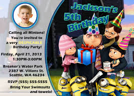 despicable me party invitations u2013 gangcraft net