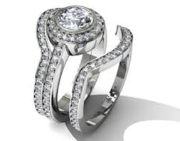 engagement and wedding rings wedding band that fits around engagement ring 12308