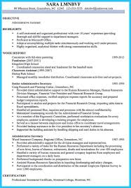 Job History Resume Many Years by Best Administrative Assistant Resume Sample To Get Job Soon