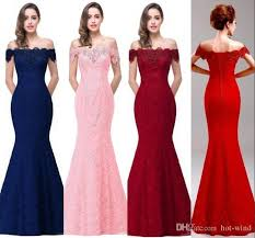 cheap long bridesmaid dresses mermaid evening celebrity party