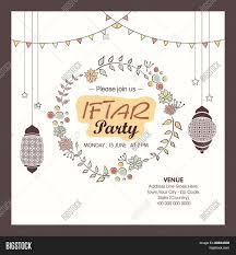Islamic Invitation Card Holy Month Of Muslim Community Ramadan Kareem Iftar Party