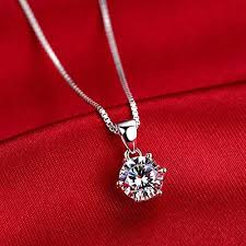 girl gold chain necklace images Generic 950_platinum_ necklace pendant birthday present women girl jpg