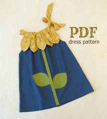 sunny flower pillowcase dress sewing pattern pdf