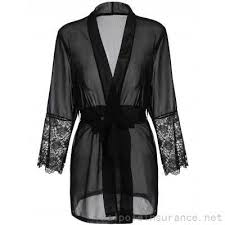 2017 best black friday deals black long sleeve lace panel sheer wrap robe 10 24 best black