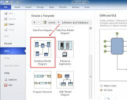 where is reverse engineer in microsoft visio 2010 2013 and 2016
