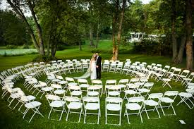 wedding ceremony seating circular seating for an intimate feel rocking outside the box