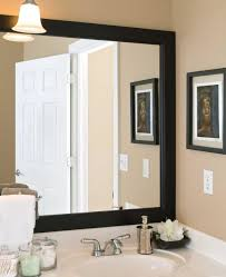 bathroom best lighted bathroom vanity mirror with black frame