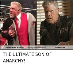 Ultimate Warrior Meme - the ultimate warrior totally lookslike com clay morrow the
