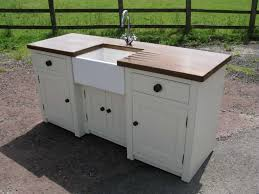Stand Alone Kitchen Cabinet Exterior White Farmhouse Sink Standing 2017 Also Stand Alone