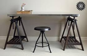 Restoration Hardware Drafting Table Trestle Table Restoration Hardware Style At Ikea Prices
