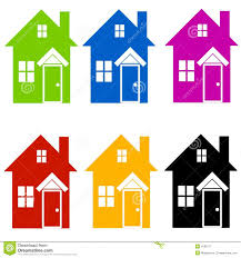 House Silhouette by Colourful House Silhouettes Clip Art Royalty Free Stock
