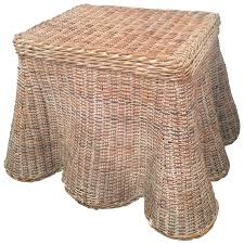 wicker end tables sale draped wicker coffee cocktail or end table vintage for sale at 1stdibs