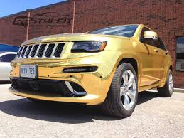 gold chrome jeep grand cherokee srt 8 vehicle customization shop