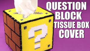 diy question block perler bead tissue box cover youtube