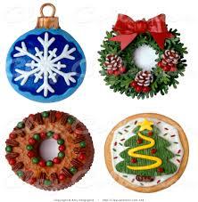 clay illustration of a 3d festive christmas ornament wreath cake