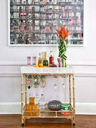 Small Home Bar by How To Upcycle A Side Table Into A Faux Bar Cart Hgtv U0027s