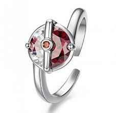 pokeball engagement ring 925 sterling silver pokeball ring 50 free
