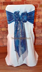 Blue Chair Covers 57 Best Blue Bows Chair Covers Images On Pinterest White Chair