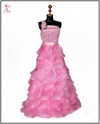Silk Rose Petals Cori Paris Handmade Pink Rose Petals Evening Barbie Dress