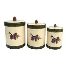 country kitchen canister sets pinecone canister set country u0026 western kitchen canister sets