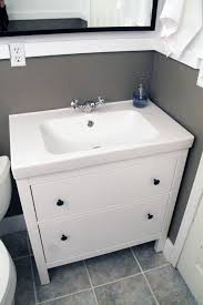 Ikea Hemnes Bathroom Vanity Bathroom Small Bathroom Decoration With Cool White Wood Hemnes