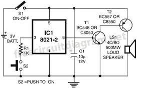 simple door bell circuit circuit diagram world