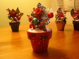 christmas decorations hand painted terra cotta pots with d u2026 flickr