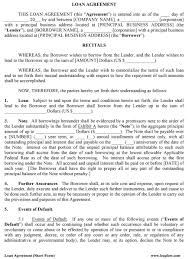 Business Requirements Document Template Pdf 40 Free Loan Agreement Templates Word Pdf Template Lab