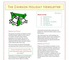 10 best images of christmas newsletter templates online holiday