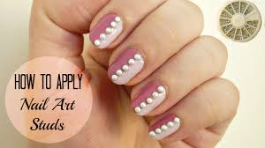how to apply nail art studs diy 3 easy methods youtube