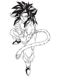 coloring pages goku super saiyan 4 free printable dragon ball