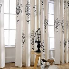 Lined Linen Drapery Panels Koting Home Fashion Cream White Cotton Linen European Crystal Lamp