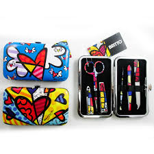 britto garden 7 pc romero britto manicure set nail care clippers cuticle travel
