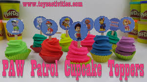 Paw Patrol Cake Decorations Paw Patrol Party Cupcake Supplies Play Doh Cupcake Decorating