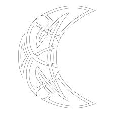 celtic moon tattoo stencil for tattooists tattoos pinterest