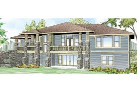 Hillside House Plans For Sloping Lots Prairie Style House Plans Northshire 30 808 Associated Designs
