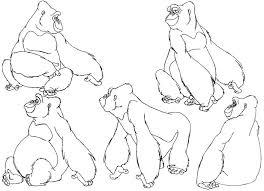 coloring page of gorilla gorilla coloring pages gorilla coloring pages pics gorilla coloring
