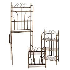 Bronze Bathroom Shelves Shop Boston Loft Furnishings Set Of 3 Rubbed Bronze Metal Bathroom