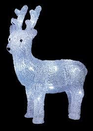 acrylic standing christmas reindeer deer w led lights outdoor