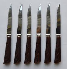 sheffield kitchen knives set of 6 faux antler stag adirondack handle sheffield english stainl