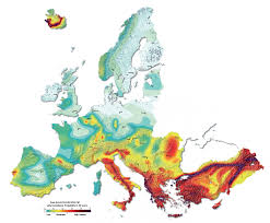 European Country Map by Mapping Europe U0027s Earthquake Risk Horizon The Eu Research