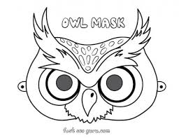 owl mask printable owl mask preschool craft coloring pages printable