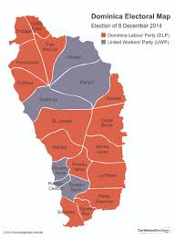 National Election Results Map by Dominica General Election Results 2014