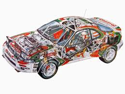 world auto toyota toyota celica turbo 4wd group а st185 u00271992 u201394 cutaway cars